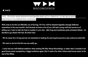 Webseite We Play House Recordings