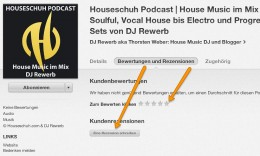 Podcast Rezension bewerten bei iTunes