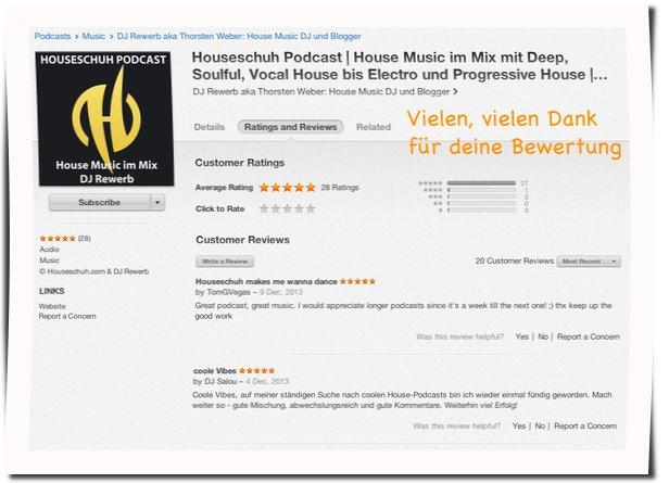 Houseschuh iTunes Rezensionen