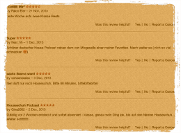 Rezensionen bei iTunes