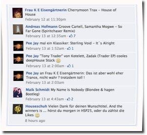 Wunschsongs bei Facebook