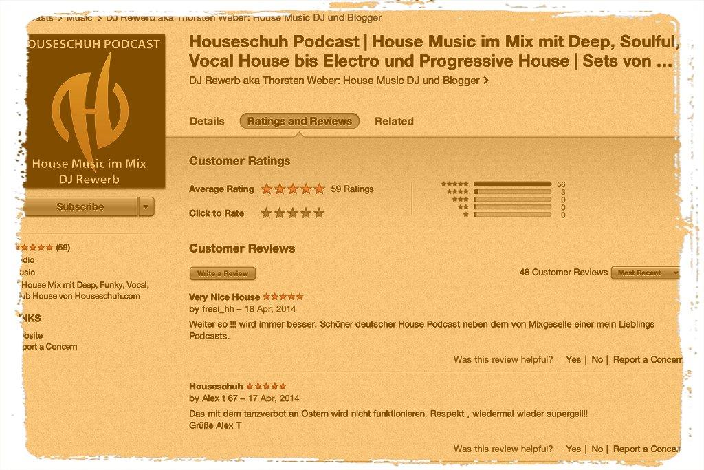 Houseschuh iTunes-Rezensionen