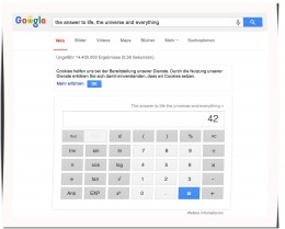 42 als Ergebnis bei Google