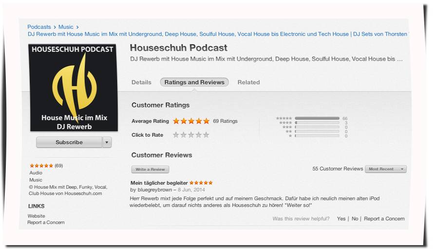 Houseschuh Rezension von Bluegreybrown bei iTunes