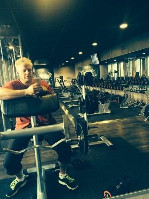 Houseschuh im Fitnessstudio