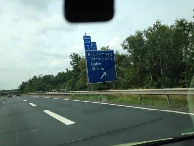 Houseschuh Hörer-Foto Autobahn Hannover-Braunschweig