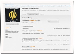 HSP45 Houseschuh Rezensionen bei iTunes, 9. Juli 2014