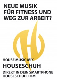 Flyer A6, Houseschuh Podcast