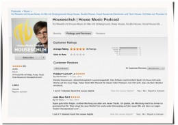 Rezension bei iTunes für Houseschuh, September 2014