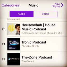 iTunes Podcast Music Charts, Platz 20