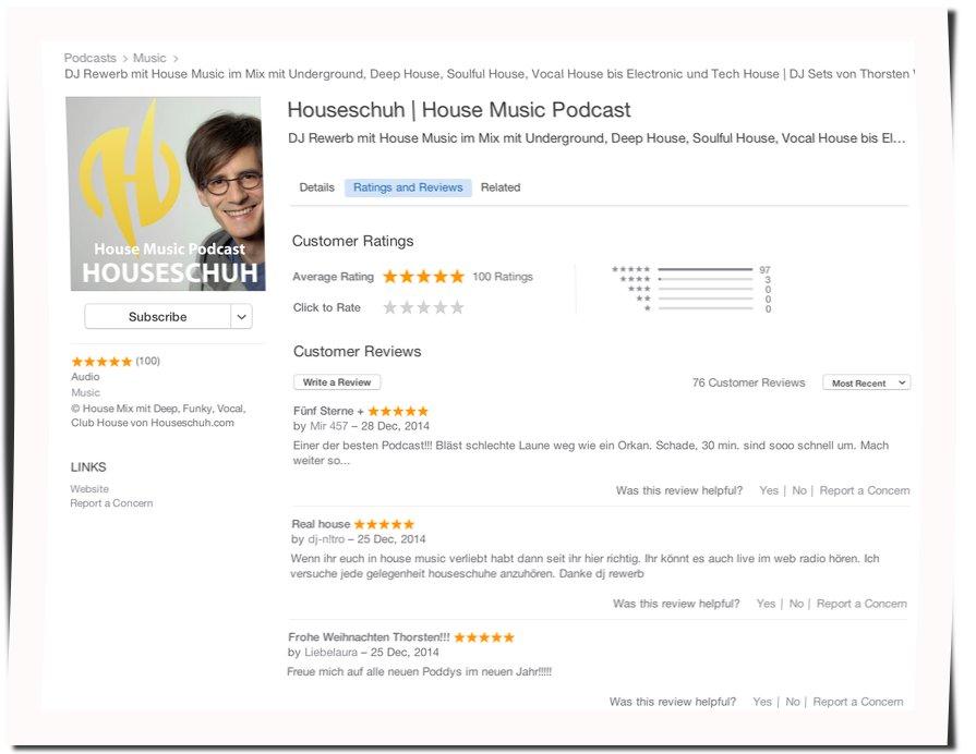 100 Bewertungen bei iTunes