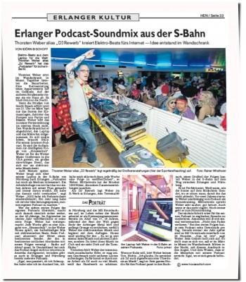 """Erlanger Podcast-Soundmix aus der S-Bahn"", Erlanger Nachrichten, Kultur"