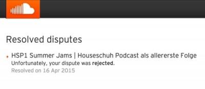 Urheberrechtsverletzung bei Houseschuh Podcast Folge 1
