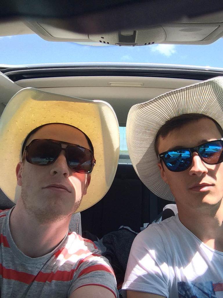 Texas-Selfie, Colli & DaFreeza auf einem Roadtrip entlang der Route 66