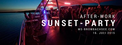 After-Work-Sunset-Party auf der MS Brombachsee