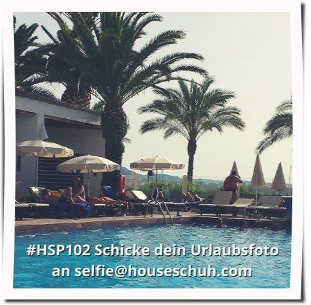 HSP102 Dein Urlaubsselfie, Blick auf den Pool, Ibiza