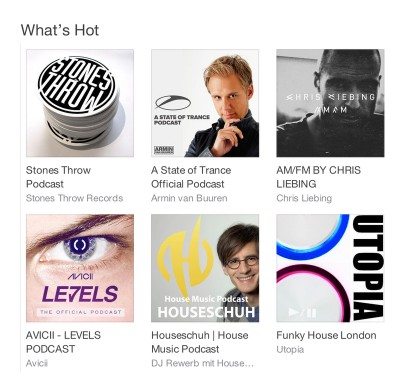 Houseschuh in der iTunes What's Hot Kategorie