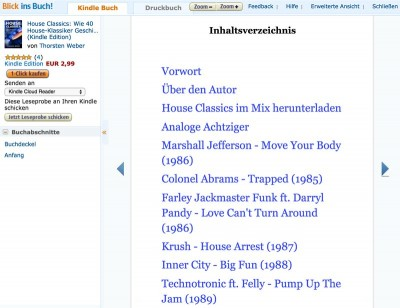 House Classics, Blick ins E-Book, Amazon Reader