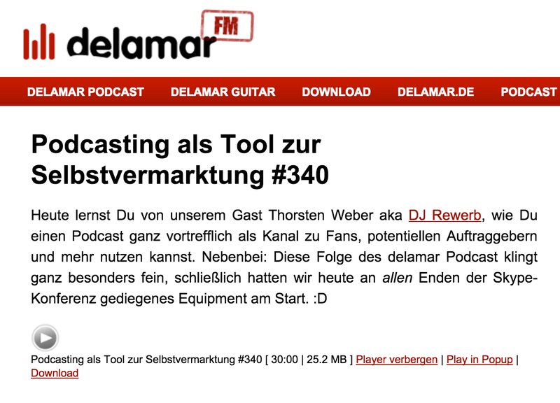 DJ Rewerb im Interview des Delamar Podcasts 340