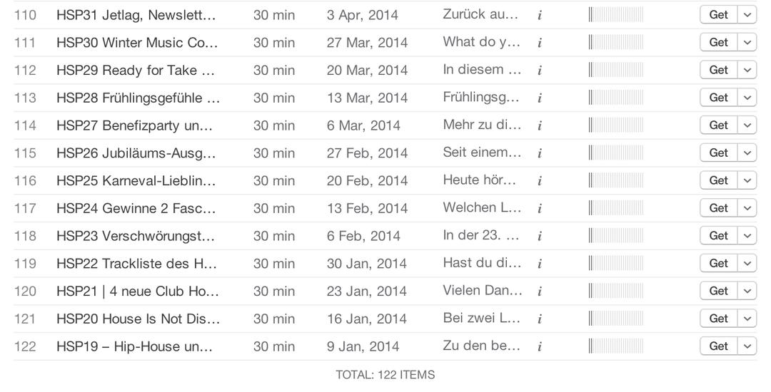 18 Houseschuh Folgen fehlen im iTunes Podcastverzeichnis