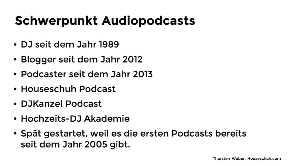 """Gliederung """"Podcasten ist Bloggen, nur mit der Stimme"""""""