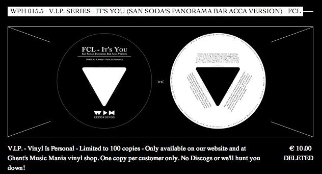 FCL - It's You - Vinyl Label wph0155 vip series